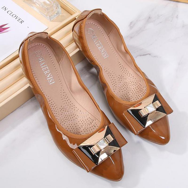 em mocassins sapatos de pano feminino ballet