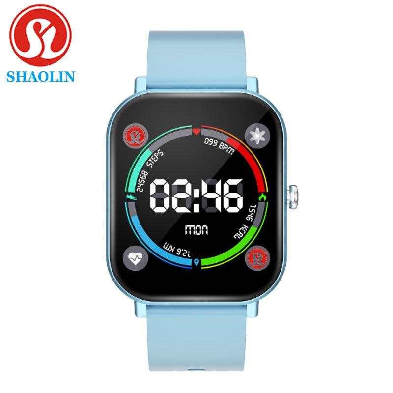 SHAOLIN Smart Watch Men Women Watch 1.4inch Full Touch Screen Fitness Tracker Heart Rate Monitor GTS