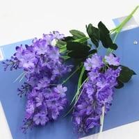 5 heads hyacinth violet flower branch fleurs artificielles for autumn home wedding decoration fake flowers ornamental flores