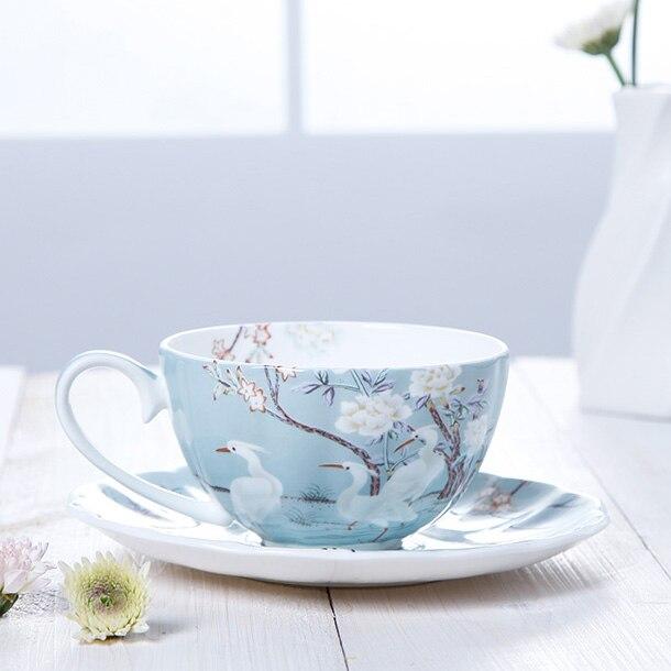 بعد الظهر فنجان شاي الخزف النمط الأوروبي صديقة للبيئة ماتي الفاخرة قابلة لإعادة الاستخدام كوب سيراميك وطبق السفر Tazas درينكوير 50