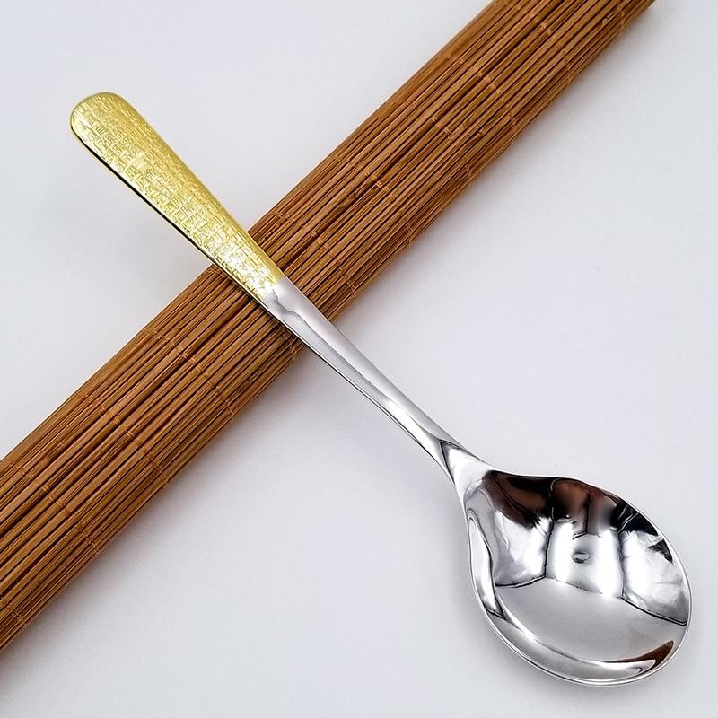 Coração sutra 999 colher de sopa de prata 60g longo punho do agregado familiar talheres prata colher de arroz colher de chá