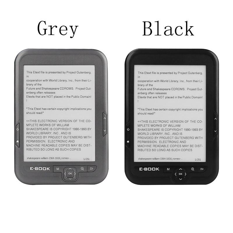 Lector de libros electrónicos de 6 pulgadas Mini Pantalla de tinta electrónica E-Book luz frontal de 8GB de memoria lector electrónico de papel libro premio de recuerdo 17,2x12x0,9 cm