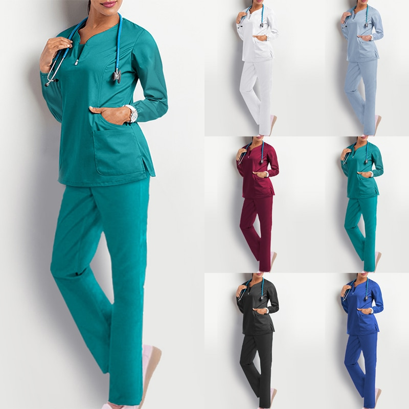 Женская рабочая одежда с длинным рукавом, унисекс, унисекс