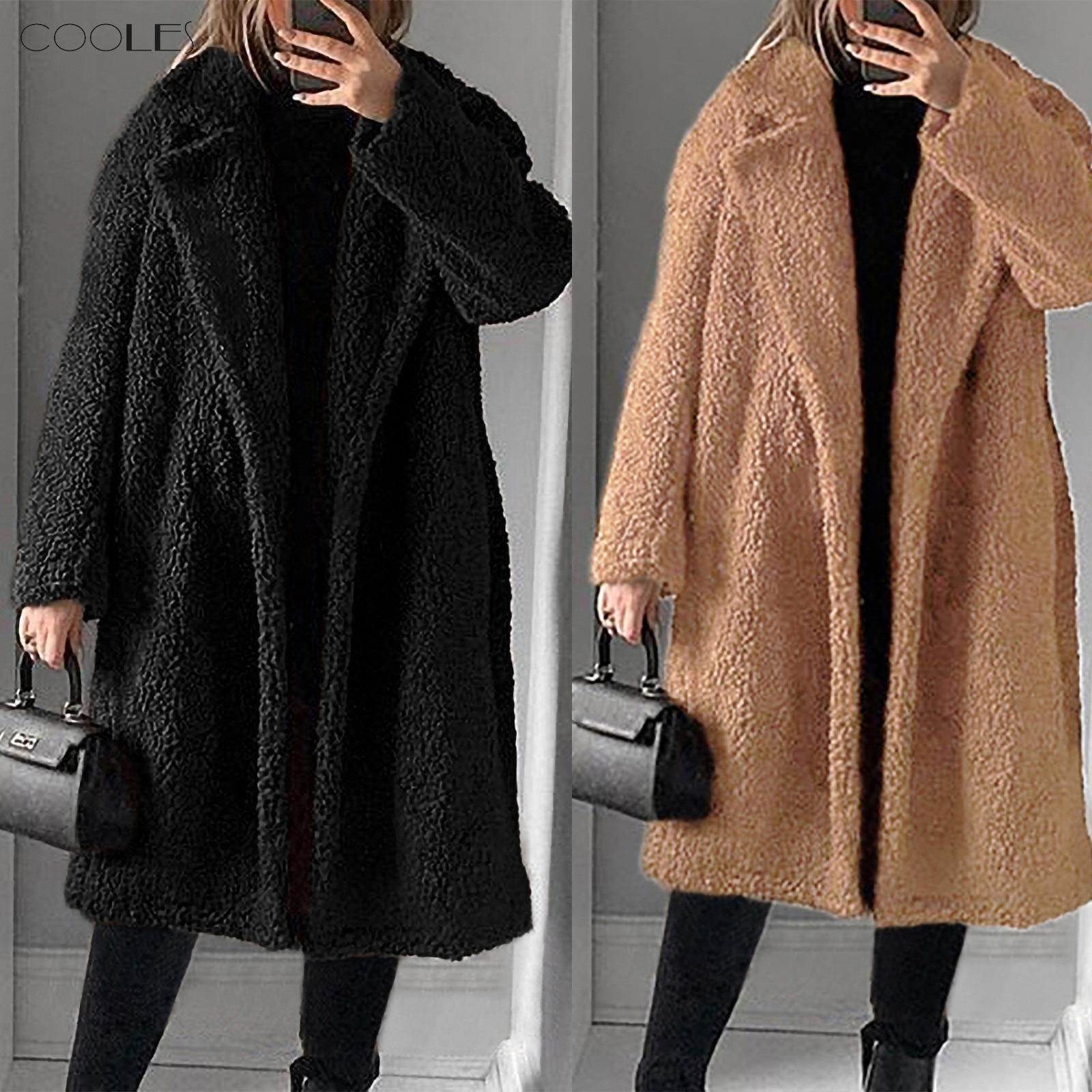 Abrigo de felpa Artificial cálido para Mujer de Manteau Femme 2020, abrigo...