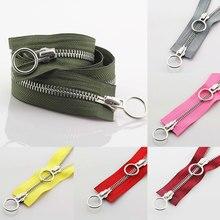 70/90CM DIY Double Open Zipper Head Resin Zipper 5# Down Jacket Double Zipper Clothes Long Zipper se