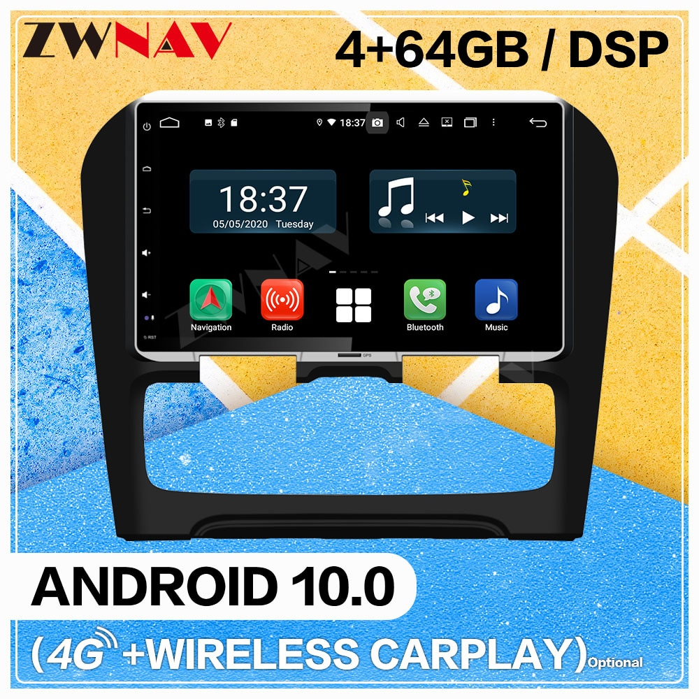 Pantalla Carplay Android 10 reproductor de DVD Multimedia para coche Citroen C4 coche BT GPS navegación vídeo para automóvil Radio Audio estéreo Unidad Principal