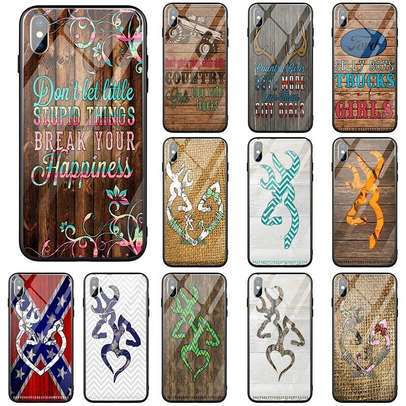 Fundas de teléfono de vidrio templado para iPhone 5 5S SE 2020 X XR XS 11 Pro Max 10 7 6 6s 8 Plus bolsas botas Cooting rapics Tumblr