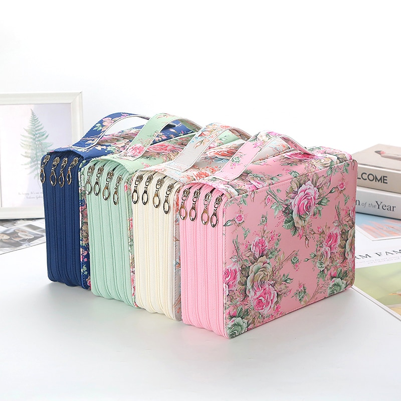 200 Slots Pencil Case School Pencilcase for Girls Boys Penal Large Pen Box Stationery Bag Big Cartridge Storage Office Pouch Kit