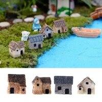 4pcs miniature exquisite thumbnail stone houses desktop ornaments garden decoration fping
