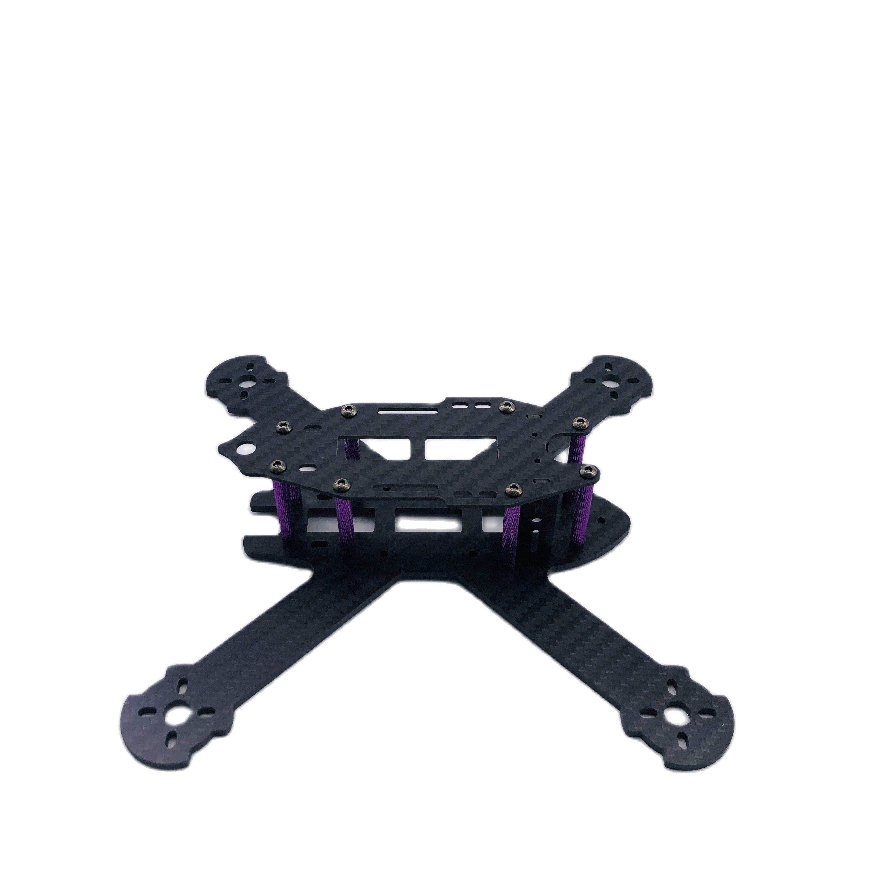TCMMRC FPV Drone Frame 5.5 Inch FPV STAD Drone Frame, Wheel Base, 210mm, 3mm, Carbon Fiber Arm,+ F402D Flight Control DIY enlarge