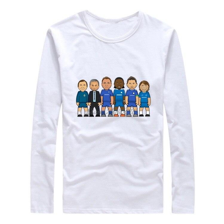 Los hombres de manga larga Frank Lampard, John Terry, Didier Drogba José...