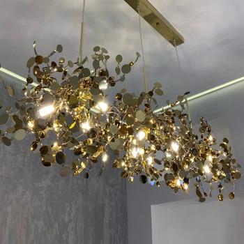 BTX Modern Led Pendant Light Dining Living Room Hotel Stainless Steel Shade  Hanging Lamp G9 Luminaire Loft Indoor Light Fixture