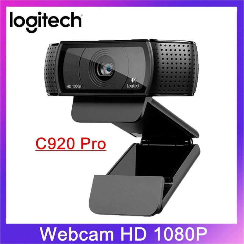 الأصلي لوجيتك C920 برو 1080p HD كاميرا ويب ضبط تلقائي للصورة كاميرا عريضة دعوة الفيديو وتسجيل الويب لسطح المكتب أو الكمبيوتر المحمول
