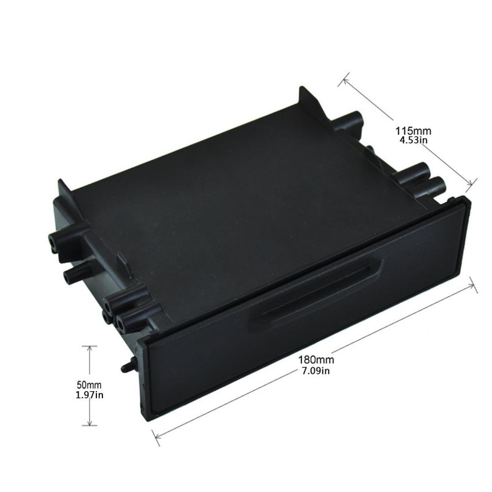 Universal Car Auto Single Din Radio Pocket Kit Installation Set Up Dash 1 Storage Box Car For Toyota