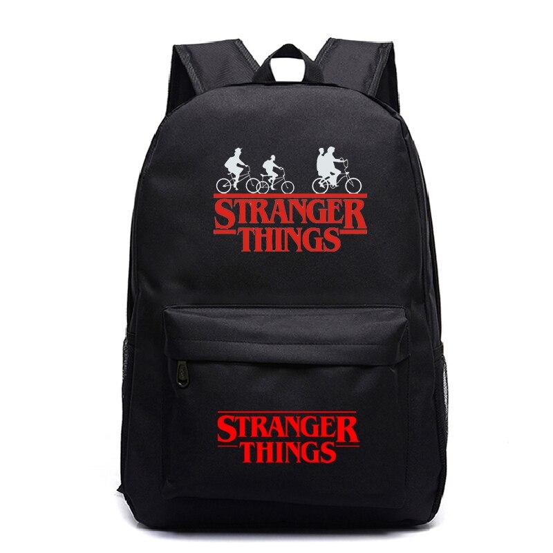 Stranger things podróży dla dzieci plecak dla dzieci piękny plecak nowy wzór chłopcy dziewczyny nastolatki szkoła Mochila torby na laptop dla mężczyzn kobiety