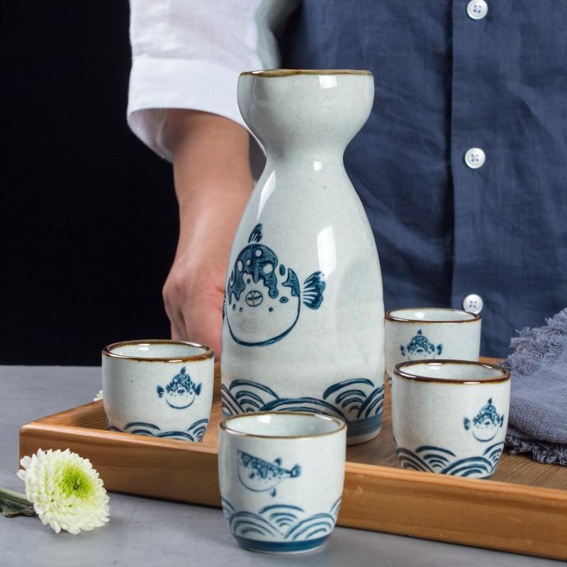 Juegos de Bar de estilo japonés, cerámica de Sake, utensilios de cocina...