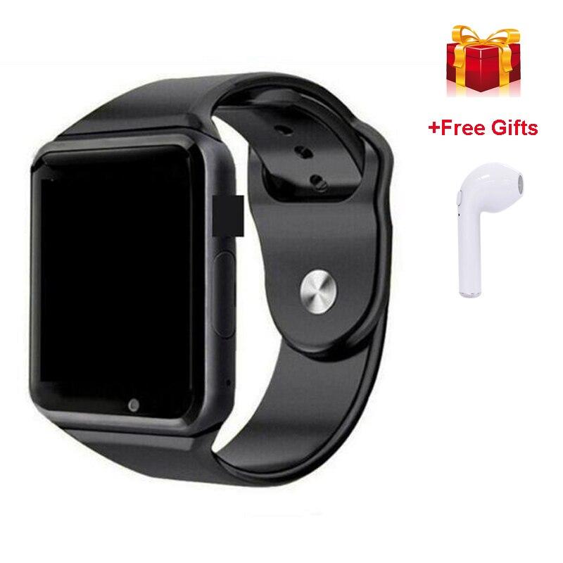 Reloj inteligente Bluetooth A1 y Reloj de pulsera deportivo Eaphone i7 compatible con cámara 2G SIM TF Reloj inteligente para Xiaomi relojes deportivos