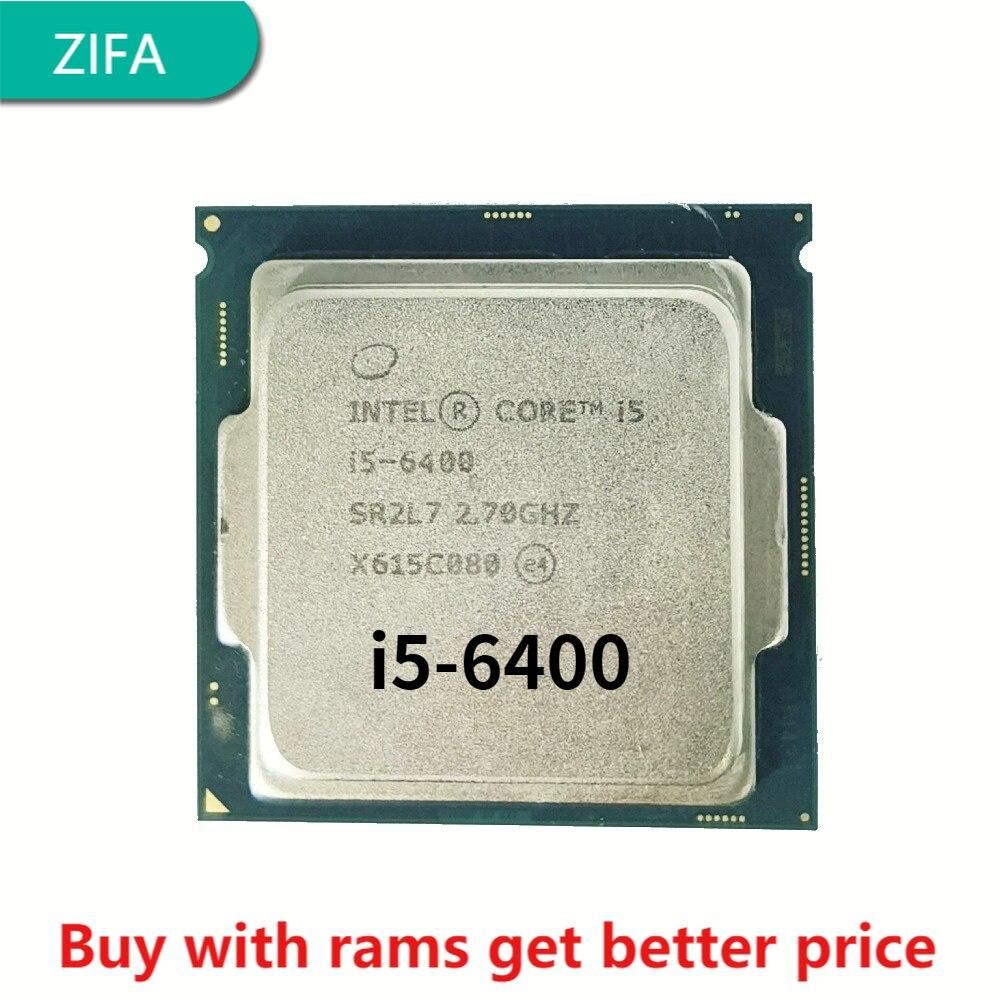 I5 6400 2.7GHz 6M 4 النواة 4 الموضوع 65w LGA1151 المعالج سطح المكتب ddr3 ذاكرة عشوائية