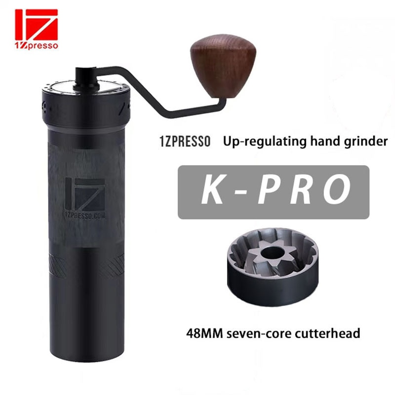 1 zسبريسو kplus سلسلة دليل طاحونة القهوة الألومنيوم لدغ طاحونة الفولاذ المقاوم للصدأ قابل للتعديل القهوة الفول مطحنة صغيرة طحن الفول