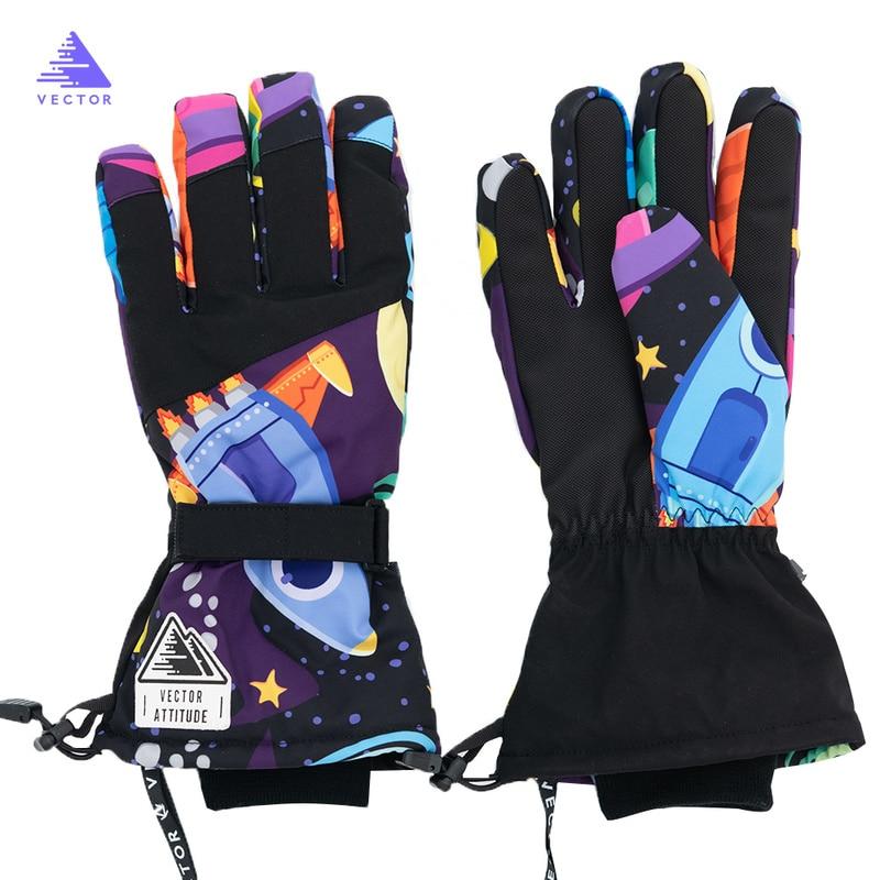 Векторные лыжные перчатки, женские теплые зимние водонепроницаемые лыжные перчатки для сноуборда, снегоходы для езды на мотоцикле, уличные...