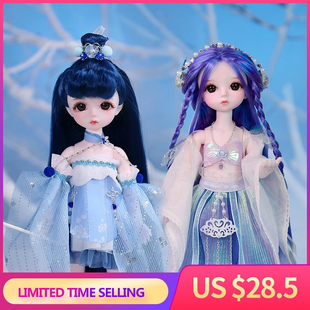 Hada del sueño 1/6 muñecas estilo corte 28CM BJD Ball articulado muñeca conjunto completo que incluye ropa zapatos juguete DIY regalo para niñas