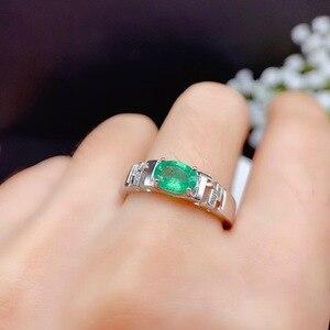 1 carat emerald ring new 925 Sterling Silver Natural Gemstone precious gemstone precious gift including certificate