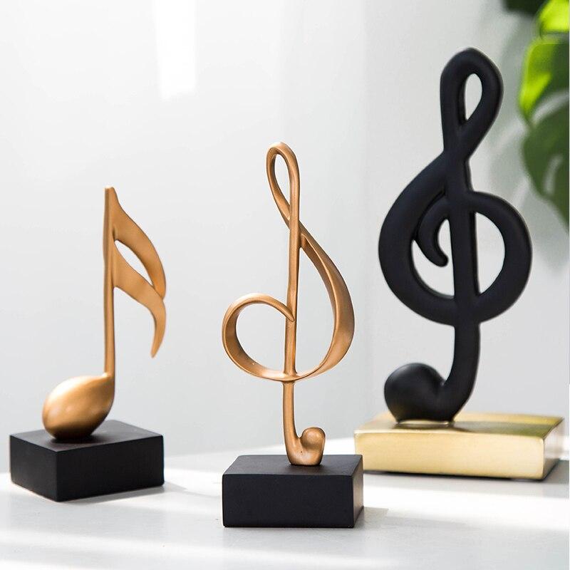 Музыкальная символьная форма, персональная музыкальная скульптура, Офисная комната, кафе, подарок, скандинавский стиль, украшение из смолы,...