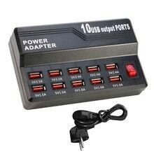 10 USB зарядное устройство разветвитель 60W Мобильный телефон зарядное устройство концентратор интеллектуальная зарядка универсальный для iPhone iPad Samsung адаптер переменного тока