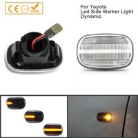 2x dynamic led side marker turn signal lights indicator amber repeater car lights for toyota hilux corolla carina e t19 corolla