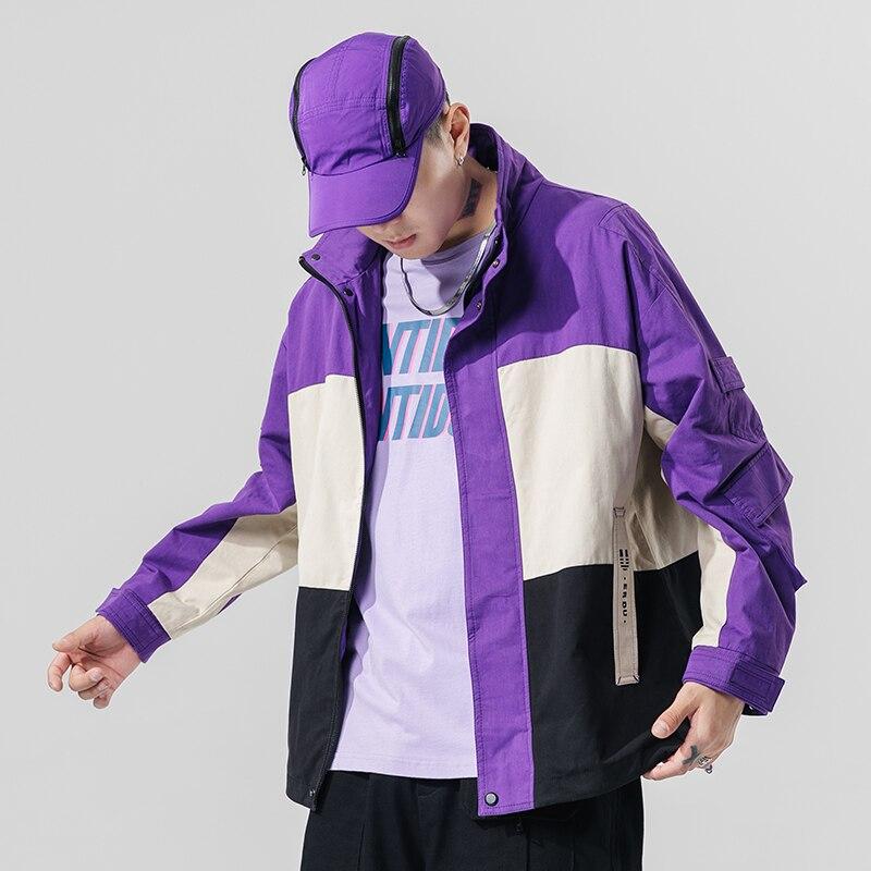 Демисезонные мужские куртки в Корейском стиле, повседневные уличные свободные пальто в стиле хип-хоп, 2020, Harajuku, мужская куртка, пальто, топы