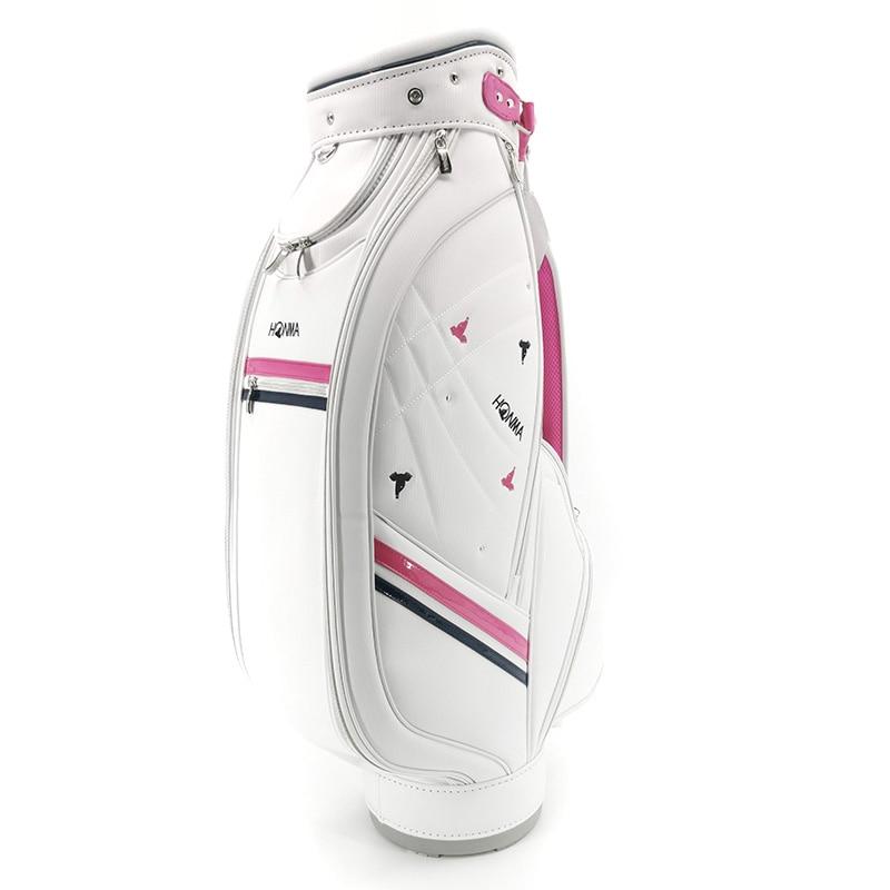 Golf bag, ladies' premium PU golf standard bag, light waterproof option 9.5 inches HONMA golf club bag