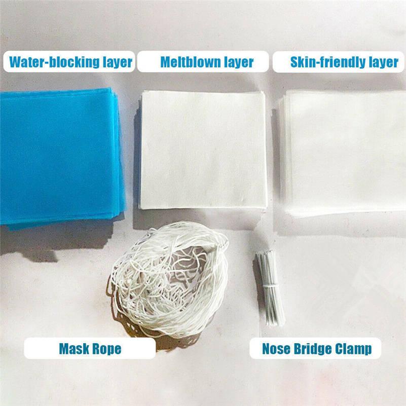 Kesilmiş Meltblown Nonwoven kumaş kulak bandı kordon burun köprü klip malzeme paketi