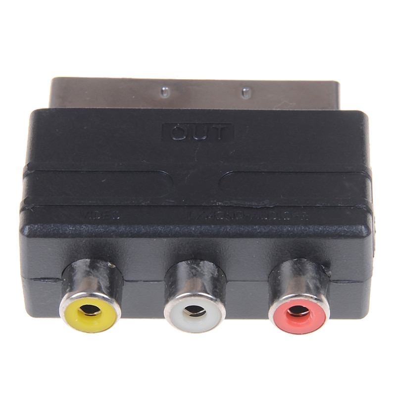 Адаптер RGB Scart на 3 RCA S-Video, Композитный RCA SVHS AV TV, аудио конвертер для видео, DVD-рекордера, ТВ, телевизионного проектора