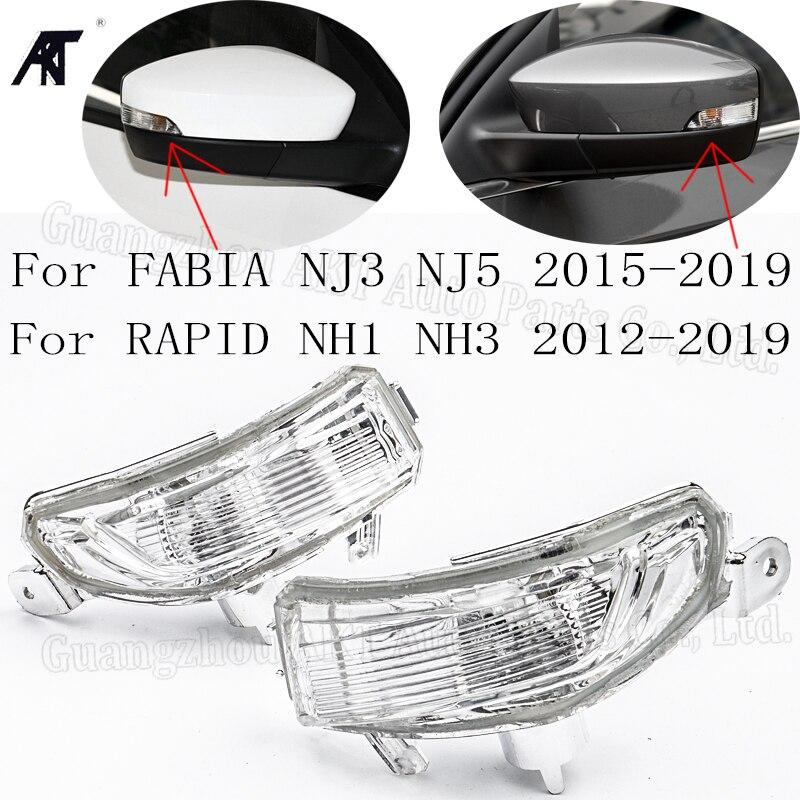 Right &Left side rearview Mirror LED Turn Signal light for Skoda Fabia NJ3 NJ5