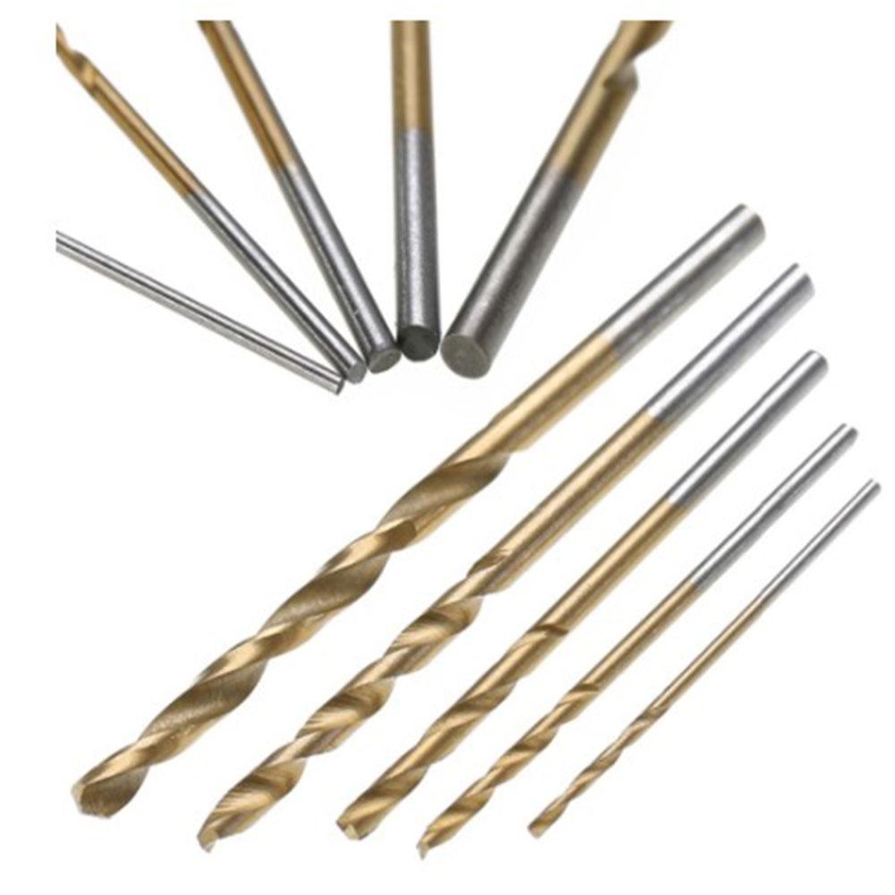 Molti tipi di punte elicoidali rivestite in titanio in acciaio ad - Punta da trapano - Fotografia 5