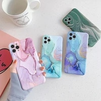 luxury marble phone case for iphone 11 12 pro max xs x xr 7 8 plus mini shockproof se 2020 soft silicone matte cases cover