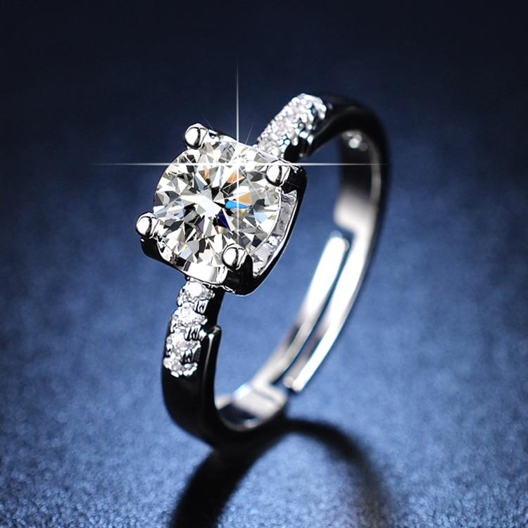 Sterling Silver Rings  Women Rings Diamond Rings for Women Silver 925 Jewelry Rings for Women Engagement