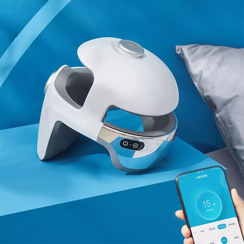 Xiaomi Smart Massage Helmet Xiaoai Voice Control Eye Airbag Compression Built In Soothing Music Adjustable Head Circumference