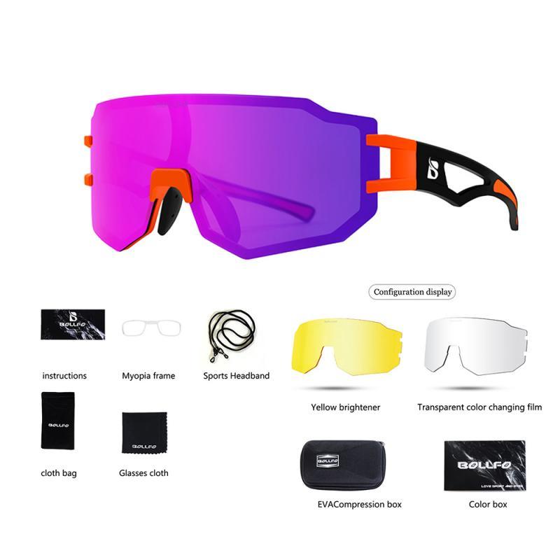 RIZOJUNMA PC صحيح غشاء المضادة للأشعة فوق البنفسجية دراجة نظارات يمكن إضافة قصر النظر نظارات الدراجة الجبلية الطريق نظارات الموضة الدراجات