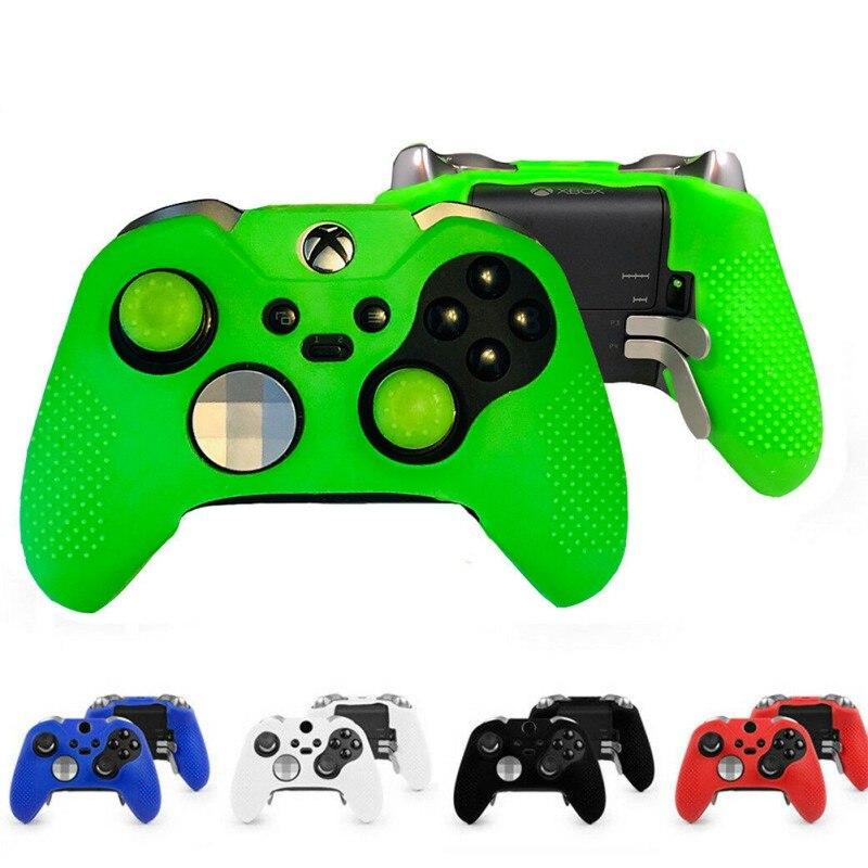 Funda protectora Gamepad Joystick funda protectora de silicona suave Premium para Xbox One Elite Controller