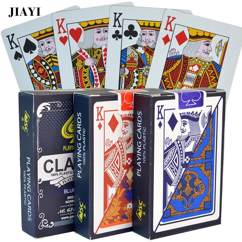 Cartões de poker do pvc à prova dtexas água texas holdem em cartões de jogo preto jack plástico cartão de jogo de poker cartão de jogo de tabuleiro criativo