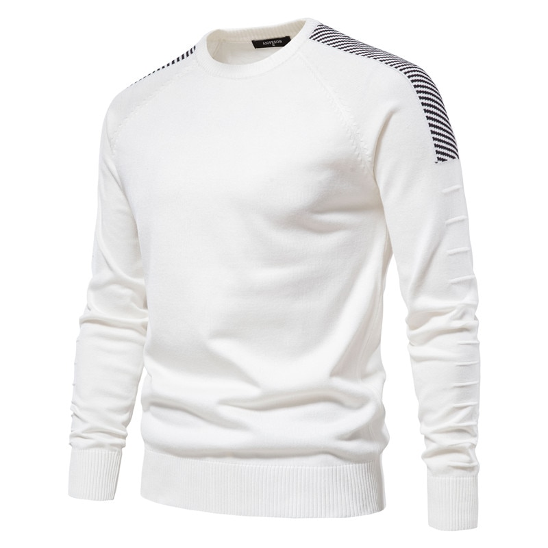 Новинка 2021, свитер с капюшоном, мужской повседневный приталенный пуловер с круглым вырезом, мужской свитер, новый зимний мужской теплый вяз...