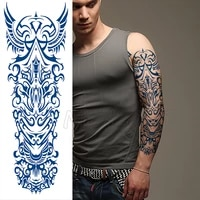 juice tattoo sticker totem wings element full arm manly fake stickers long last to about 15 days