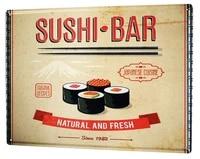 tin sign world trip sushi bar coffee bar decoration home decor