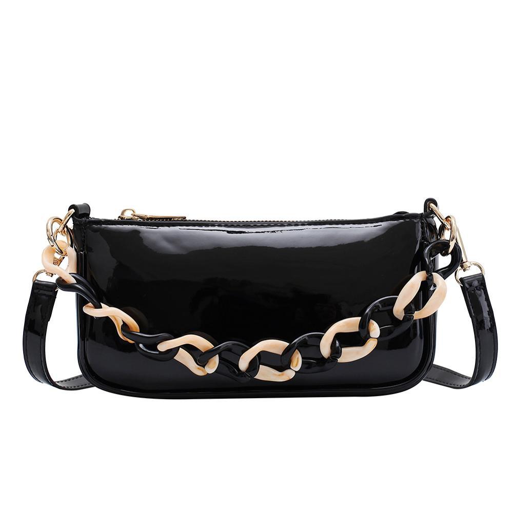 Bolso de hombro para mujer, bolsos de cuero PU de división Retro, bolsos sólidos de mujer, Bolso pequeño de mensajero cruzado, bolso femenino