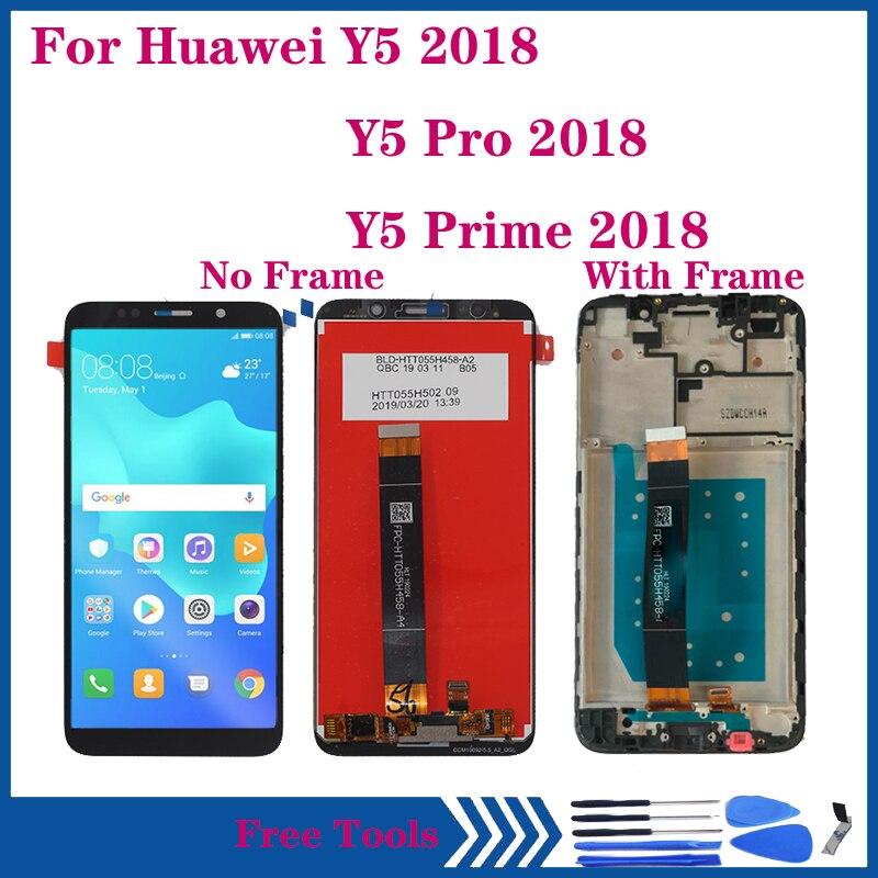 العرض الأصلي لهواوي Y5 2018 LCD عرض تعمل باللمس محول الأرقام الجمعية ل Y5 رئيس 2018 DRA-LX2 LX3 L22 L21 L02 LCD