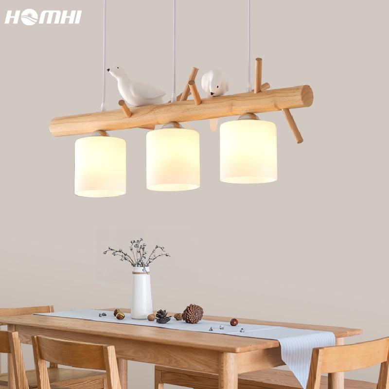 Lustres japoneses de pájaro para sala de jantar, decoración de salón, iluminación...