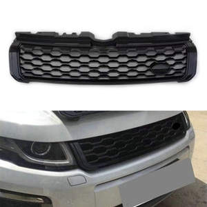 Black ABS Car Styling Front Upper Mesh Grille For Land Rover Range Rover Evoque 2010 2011 2012 2013 2014 2015 2016 2017 2018