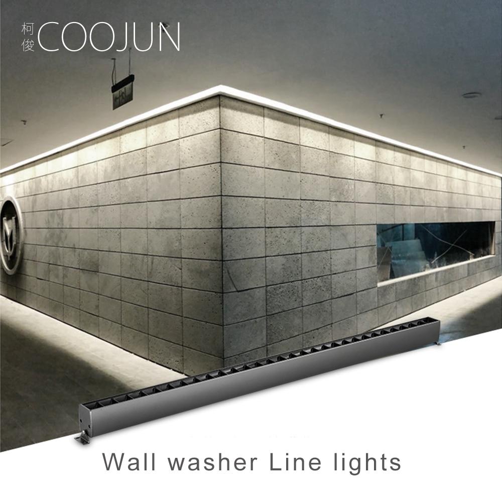 Barra lineal COOJUN, foco LED para interior, arandela de pared, decoración luminosa, villa de ingeniería de hotel, tira de luz comercial de 220V