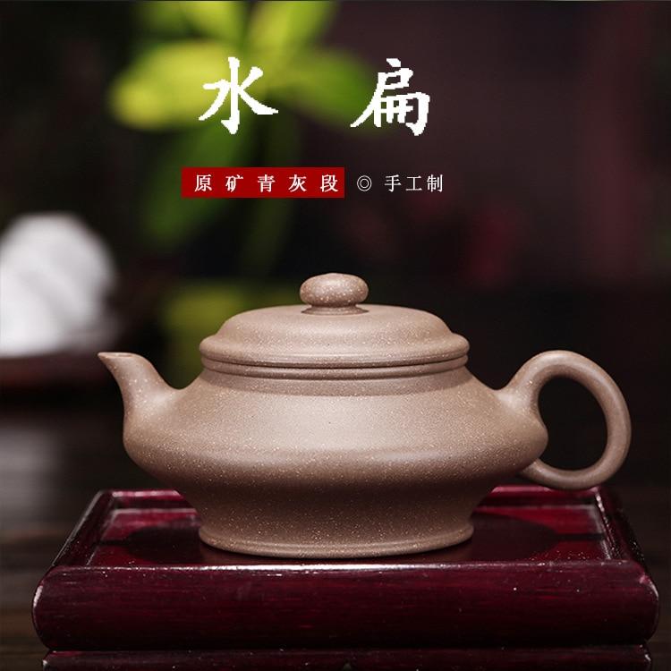 Yixing-إبريق شاي من الطين الأرجواني ، مجموعة الشاي المصنوعة يدويًا من الطين